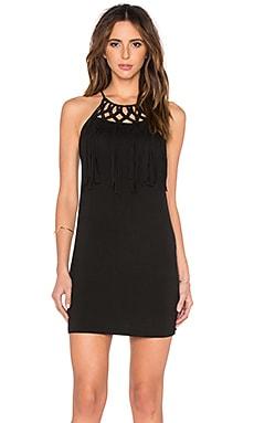OH, BOY! Vestido Macrame Mini Dress in Black