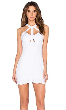 OH, BOY! Vestido Recorte Dress in White