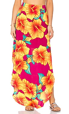 OH, BOY! Sia Concha Maui Skirt in Wine
