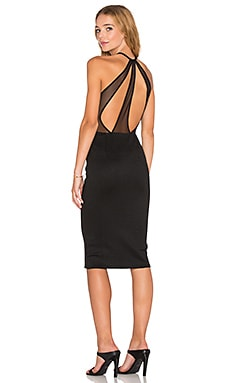 OH MY LOVE Genius of Love Strap Back Dress in Black