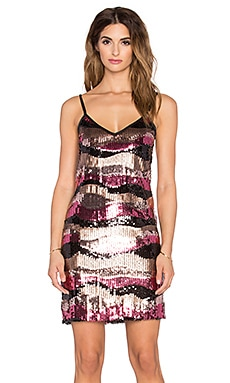 OH MY LOVE Bye Bye Love Sequin Dress in Multi
