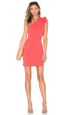 OH MY LOVE One Shoulder Tie Bodycon in Pink