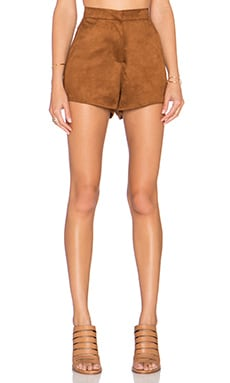 OH MY LOVE Suede It Up Short in Camel