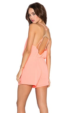 OH MY LOVE Playsuit in Neon Pink