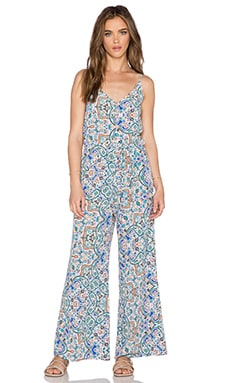 OH MY LOVE Wide Leg Jumpsuit in Tangier Print
