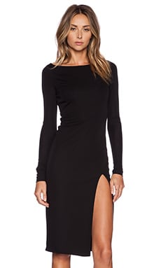 OLCAY GULSEN Boatneck Dress in Black