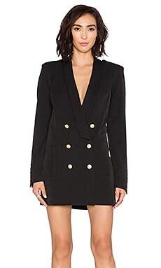 ST by OLCAY GULSEN Jackie Tuxedo Dress in Black