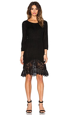 ST by OLCAY GULSEN Knitted Dress in Black