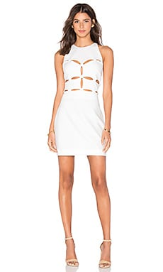 Peekaboo Dress in Off White