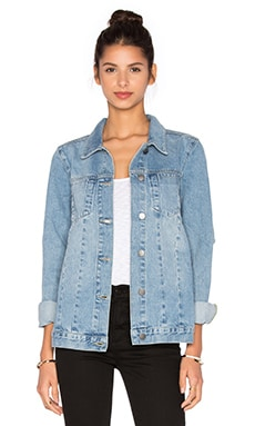 ST by OLCAY GULSEN Denim Jacket in Blue Ripped