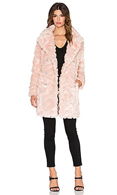 ST by OLCAY GULSEN Offspring Faux Fur Coat in Sweet Delight