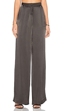 ST by OLCAY GULSEN Sheer Palazzo Pant in Intense Grey