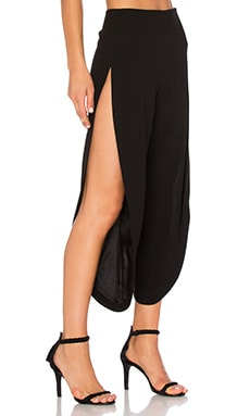 High Slit Culotte Pant in Black
