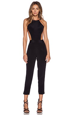 OLCAY GULSEN Exposed Top Jumpsuit in Black
