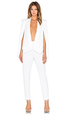OLCAY GULSEN Cape Jumpsuit in White