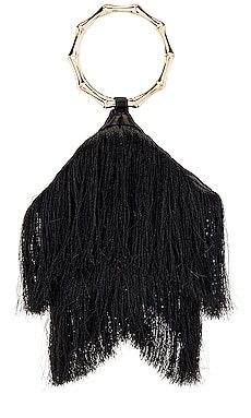 Teenie Fringed Ring Handle Bag olga berg $79