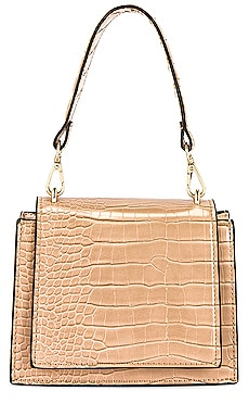 Molli Croc Embossed Top Handle Bag olga berg $90