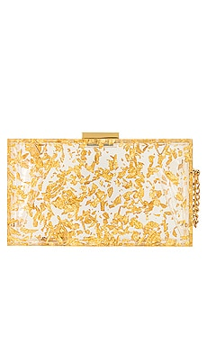Carmella Metallic Foil Box Clutch olga berg $115