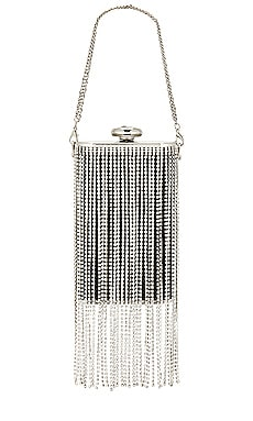 Luiza Crystal Fringed Box Clutch olga berg $110