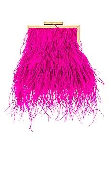 Ozzy Feather Embellished Framed Bag olga berg $110 BEST SELLER