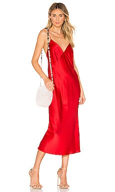 Issa Silk Bias Cut Slip Dress Olivia von Halle $312