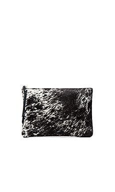 Queenie Clutch in Black & White