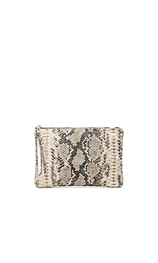 Oliveve Queenie Clutch in Grey & White