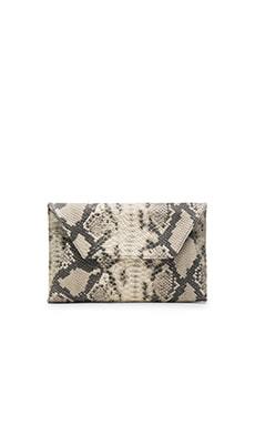 Oliveve Cleo Envelope Clutch in Grey Cobra