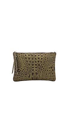 Queenie Clutch in Olive