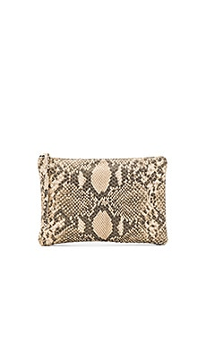 Queenie Clutch in Gold Cobra