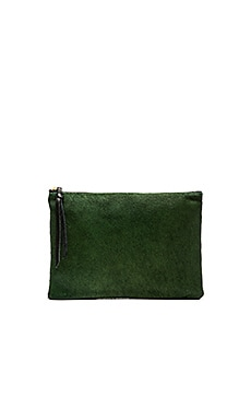 Oliveve Queenie Clutch in Emerald Grid