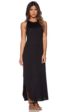 OLYMPIA Activewear Santorini Maxi Dress in Jet