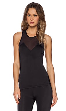 OLYMPIA Activewear Alpha Tank in Jet & Jet Mesh