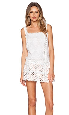 OndadeMar Eyelet Mini Dress in White Boheme