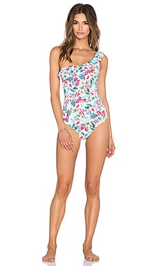 OndadeMar One Shoulder Swimsuit in Hawaiian Bloom