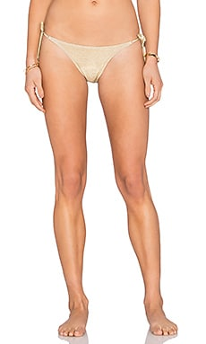 Side Tie Bikini Bottom in Gold