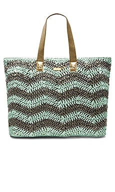 OndadeMar Tote Bag in Mint & Grey