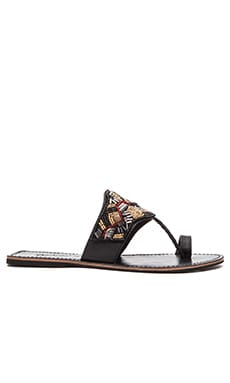 OndadeMar Slip On Sandal in Black & Multi
