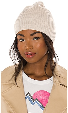 Crew Cashmere Beanie One Grey Day $98