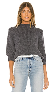 Milly 3/4 Pullover One Grey Day $218