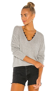 Houston Lace Pullover One Grey Day $178 BEST SELLER