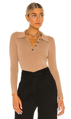 X REVOLVE Tamar Crop Polo One Grey Day $148