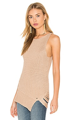 One Grey Day Victoria Sleeveless Sweater in Latte