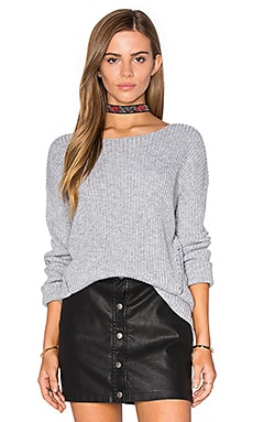 One Grey Day Billie Bell Sleeve Sweater in Chromium