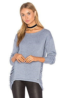 Adele Drape Side Sweater in Sky