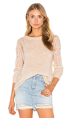Cora Distressed Sweater in Faune