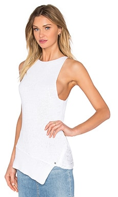 One Grey Day Victoria Sleeveless Sweater Tank in White
