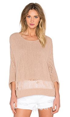 Jeffrey Crew Neck Sweater in Soft Camel