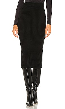 Gunnar Ribbed Skirt One Grey Day $158 NEW