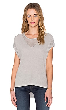 One Grey Day Luna Tee in Light Grey